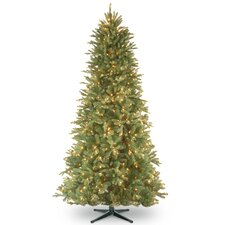 6.5' Tiffany Fir Trees Artificial Christmas Tree with 500 Clear Colored and White Lights with Stand