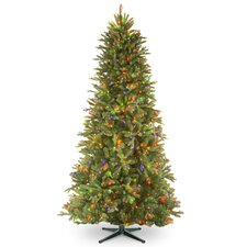 6.5' Tiffany Fir Trees Artificial Christmas Tree with 500 Multi-Colored Lights with Stand