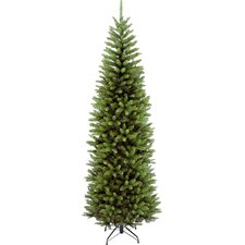 7.6' Kingswood Green Pencil Fir Artificial Christmas Tree