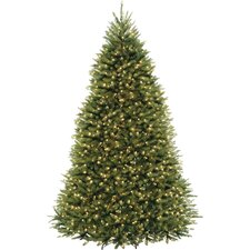 9' Dunhill Fir Hinged Green Artificial Christmas Tree with 900 Clear Lights