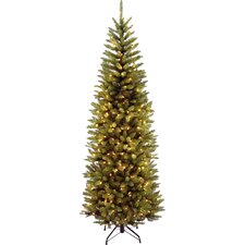 "Kingswood 7.5"" Green Pencil Fir Artificial Christmas Tree with Clear Lights with Stand"