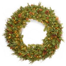 "48"" Lighted Pine Wreath"