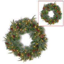 "Colonial 24"" Lighted Wreath"