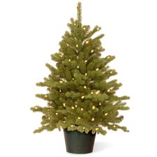 Hampton 3' Green Spruce Artificial Christmas Tree with 100 Clear Lights
