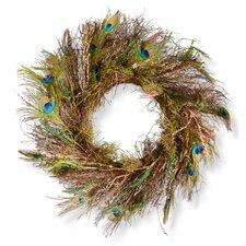"28"" Peacock Wreath"
