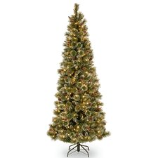 "Glittering 78"" Pine Artificial Christmas Tree"