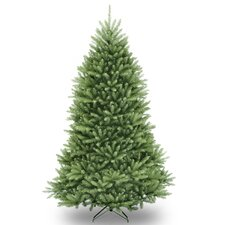 Dunhill Fir 6.5' Hinged Green Artificial Christmas Tree and Stand