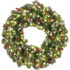 Crestwood Spruce Wreath with 50 Clear Lights