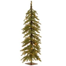Nordic 4' Green Spruce Cedar Artificial Christmas Tree with 100 Warm White LED Lights