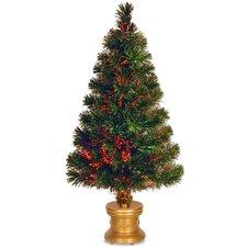 "Fiber Optics Evergreen Firework 2"" 8"" Multicolor Artificial Christmas Tree with Multicolor Light"