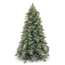 7.5' Colorado Spruce Frosted Artificial Christmas Tree with 750 Clear Lights with Stand