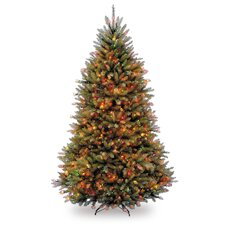 Dunhill Fir 6.5' Green Artificial Christmas Tree with Multi-Colored Lights
