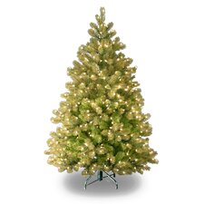 Douglas Fir Downswept 4.5' Artificial Christmas Tree with 450 Clear Lights with Stand