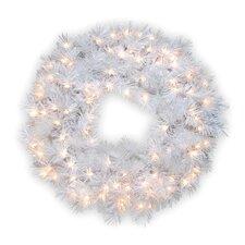 Pre-Lit Wispy Willow Grande Wreath