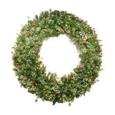 Wintry Pine Pre-Lit Wreath