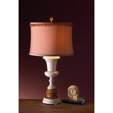 "Desert Sand and Amber 32"" H Table Lamp with Drum Shade"