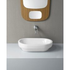 Panorama Contemporary Bathroom Sink without Overflow