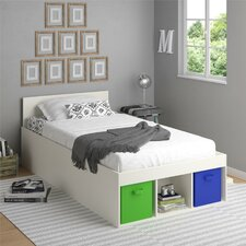 Lucerne Twin Storage Bed with Fabric Bins