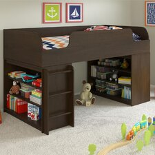 Elements Loft Bed with Ladder and Bookcase