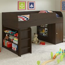 Elements Loft Bed with Toy Box and Bookcase