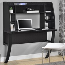 Wall Mounted Writing Desk with Hutch