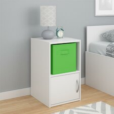 Lucerne Night Stand with Fabric Bin