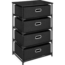 4 Drawer Storage Unit End Table
