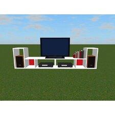55 cm Bücherregal Tetris
