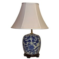"Floral Swirl 22"" Table Lamp with Empire Shade"