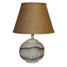 """Birch Wood Knot Painted 23"""" Ceramic Table Lamp"""