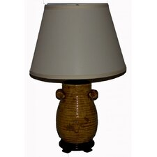 "Handcrafted Glaze 24"" H Table Lamp with Empire Shade"