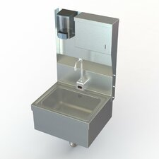 """NSF 17"""" x 15"""" Single Wall Mount Hand Sink with Faucet"""