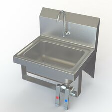 """NSF 17"""" x 15"""" Single Knee Operated Hand Sink with Faucet"""