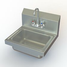 """NSF 17"""" x 15"""" Single Hand Sink with Faucet"""