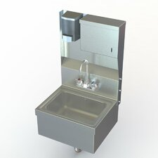 """NSF 17"""" x 15"""" Single Wall Mount Utility Hand Sink with Faucet"""