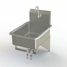 "NSF 19"" x 24"" Single Wall Mount Knee Operated Bathroom Hand Sink"