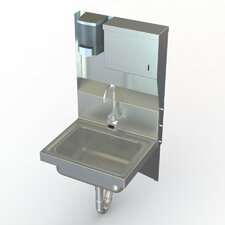 """NSF 17"""" x 15"""" Single Industrial Hand Sink with Faucet"""