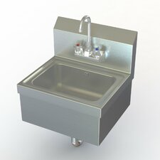 """NSF 17"""" x 15"""" Single Extra Heavy Duty Hand Sink with Faucet"""