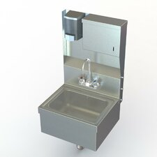 """NSF 17"""" x 15"""" Single Hand Wash Sink with Faucet"""