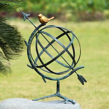 Decorative Desktop Armillary with Bird