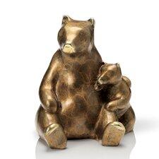 Stylized Bear and Cub Figurine