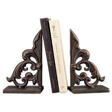 Ornate Fleur de Lis Book Ends (Set of 2)
