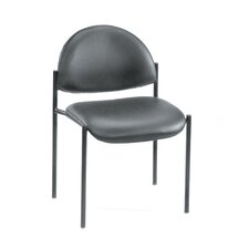 Contemporary Armless Fabric Stackable Guest Chair