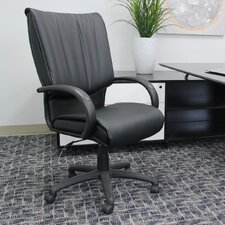 Modern Mid-Back Leather Conference Chair