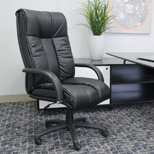 Contemporary High-Back Italian Leather Executive Chair