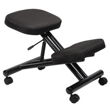 Low Back Height Adjustable Kneeling Drafting Chair with Casters
