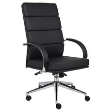 Caressoft Plus Adjustable High-Back Office Chair in Chrome
