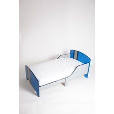 Classically Cool Racing Stripes Convertible Toddler Bed