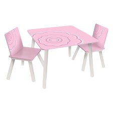 Classically Cool Blossom Kids 3 Piece Table & Chair Set