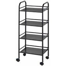 "Storage Cart 29.75"" H 4 Shelf Shelving Unit"